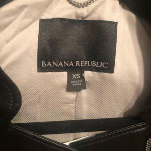 Banana Republic Jackets & Coats - Banana Republic Vegan Leather Bomber Jacket